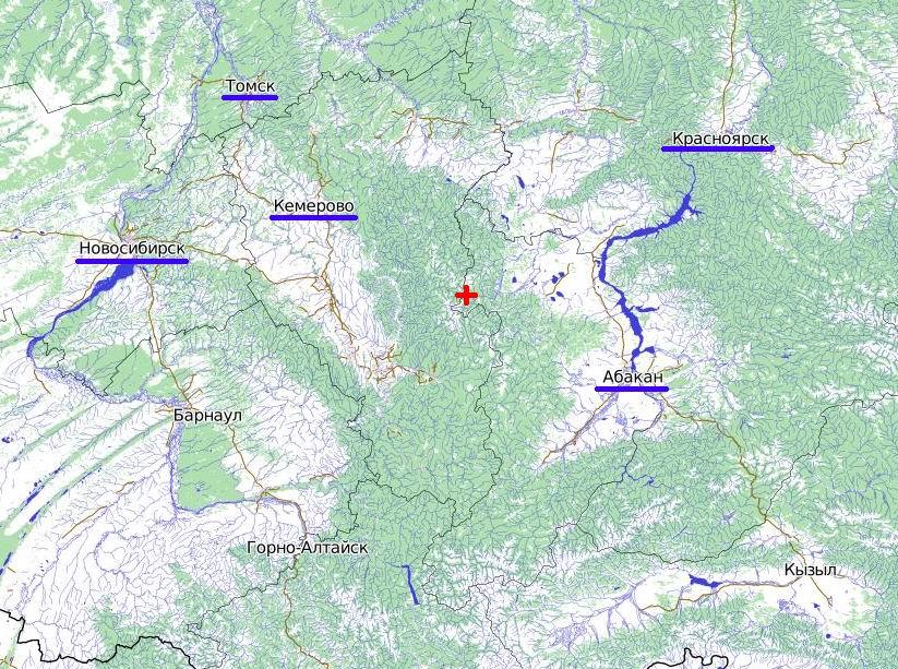 Карта-схема с указанием